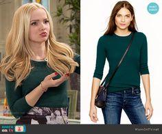 Liv's green sweater on Liv and Maddie.  Outfit Details: https://wornontv.net/59920/ #LivandMaddie
