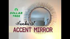 "DIY Dollar Tree 19"" Sunburst Accent Mirror - $12"