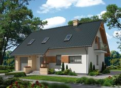 Powierzchnia użytkowa tego domu to 113.01 m² + garaż, kotłownia 26.7 m²