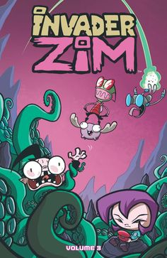 """biggoonie: """"Invader Zim Volume 3 by Warren Wucinich """" INVADER ZIM VOLUME 3 JHONEN VASQUEZ, ERIC TRUEHEART (W) • SARAH ANDERSEN (W/A) • WARREN WUCINICH (A/CA) • FRED C. STRESING, KATY FARINA © A global invasion is taking place! And it's not by any..."""