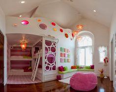 quartos de meninas decorados com decoração super moderna