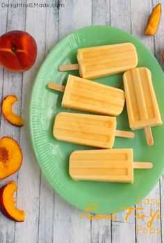 Easy Peach FroYo Pop