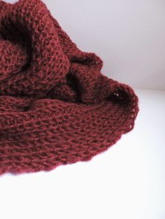 da659382a1 Mohair womens scarves Cozy scarf Chunky knit cowl Neck warmer Burgundy  infinity scarf Hand knit scarf Mens cowl Snood scarf
