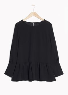 & Other Stories image 1 of Flared Blouse in Black
