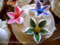 Easy marshmellow flowers