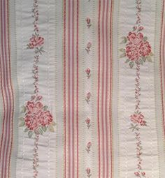 Sweety blush Woven Floral Stripe Upholstery Fabric;