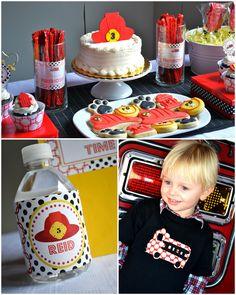 Even says Reid!  Cute Firefighter Birthday Party! |  Festa di compleanno x pompieri