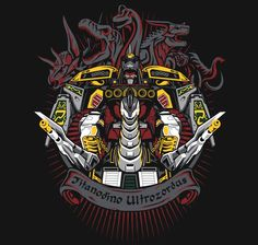 Titanodino Ultrozordus T-Shirt $12 Power Rangers tee at Once Upon a Tee!