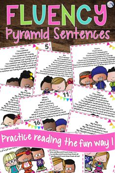 Fluency Pyramid Sentences take fluency practice once step further with this really fun activity that helps students read accurately Reading Comprehension Strategies, Reading Fluency, Teaching Reading, Teaching Tips, Guided Reading, 3rd Grade Reading, Student Reading, Reading Centers, Literacy Centers
