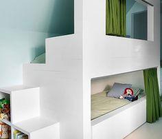 een leuk stapelbed of hoogslaper voor in de kinderkamer - Roomed Bunk Beds Built In, Kids Bunk Beds, Kid Spaces, My New Room, Kids Bedroom, Kids Rooms, Budget Bedroom, Master Bedroom, Room Inspiration