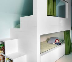 Here's an amazing collection of secret hideaway spaces and nooks that will make any kid's room adventurous and fun.
