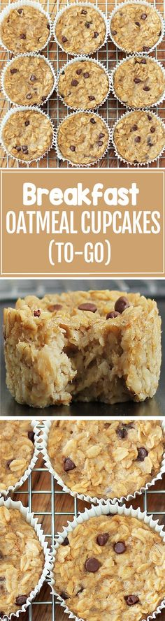 Cook just once, and you get breakfast for an entire month with these healthy bak. Cook just once, and you get breakfast for an entire month with these healthy baked oatmeal cupcakes What's For Breakfast, Breakfast Dishes, Breakfast Recipes, Breakfast Cupcakes, Breakfast Healthy, Breakfast Casserole, Breakfast Fruit, Oatmeal Breakfast Bars, Health Breakfast