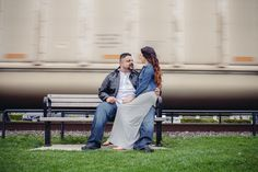 When we were doing this casual shoot, a train passed by... we love spontaneous moments!