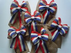 July 4th burlap bow for decoration