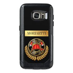 Fire Department Firefighter OtterBox Samsung Galaxy S7 Case  volunteer firefighter, firefighter party decorations, nurse and firefighter #firechief #firefightersofinstagram #firefighterinthemaking Otter Box, Fire Dept, Fire Department, Samsung Galaxy S7 Case, Bold Fashion, Firefighter, Shelter, Unique Gifts, Phone Cases