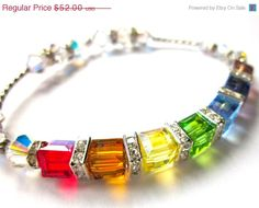 Labor Day Sale Sparkle Bracelet Swarovski by FaithHopeInspire, $44.20