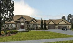 Bungalow Style House Plan 81128 with 2 Bed, 6 Bath, 4 Car Garage Architectural Design Magazine, Architectural Design House Plans, Architecture Design, Garage House Plans, Dream House Plans, Dream Houses, Car Garage, Bungalow Floor Plans, House Floor Plans