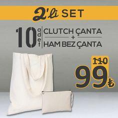 En çok tercih edilen iki modelimiz en uygun fiyata satışta! Hemen sipariş vermek için: http://istecanta.com/2-li-set?utm_content=buffer594d3&utm_medium=social&utm_source=pinterest.com&utm_campaign=buffer #bezcanta #urunseti #hambezcanta #clutchcanta #kampanya #toptan #totebag