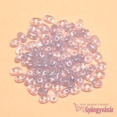 Átlátszó világoskék Twin™ gyöngy (5 g) • Gyöngyvásár.hu