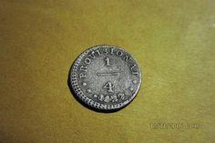 Durante el protectorado del general José de San Martín se acuñó esta primera moneda de cobre en el perú como un país independiente