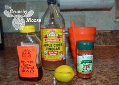 Sinus Infection or Sore Throat?   Apple Cider Vinegar, Raw Honey, Cayenne Pepper, Lemon & Water (optional: Turmeric)
