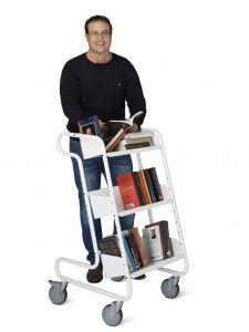 Chariot à livres Larry, Blanc