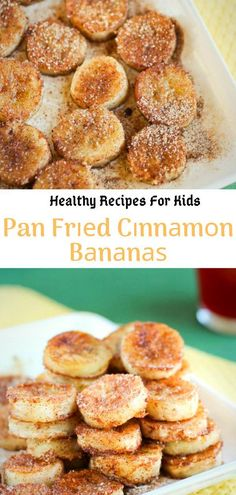 This fried cinnamon banana is very delicious! It only takes a few minutes to prepare a boring old banana in proper saliva for breakfast or dessert. snacks, Healthy Recipes For Kids Healthy Meals For One, Healthy Recipes On A Budget, Healthy Meal Prep, Healthy Dessert Recipes, Meals For Two, Kids Meals, Dinner Healthy, Healthy Kids, Kid Recipes Dinner