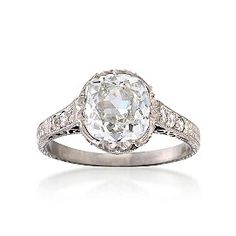 Vintage diamond platinum ring...30% discounted now $20k...wow