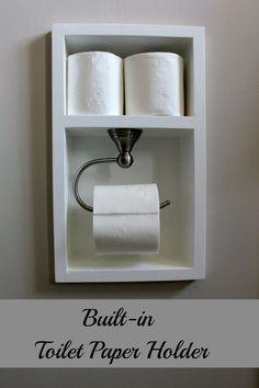 Built-in toilet Paper Holder