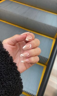 Frensh Nails, Edgy Nails, Funky Nails, Stylish Nails, Swag Nails, Hair And Nails, Neutral Nails, Nail Manicure, Simple Acrylic Nails