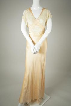 1930s Silk and Lace Bias Slip by Wantington on Etsy 1930s 2412c0ee3