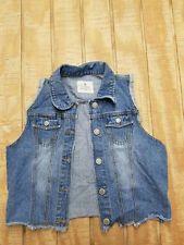 Papaya Women's Juniors Denim Jeans Vest Size Large