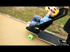Wow, this it great! a  Longboard Stroller! I love this idea!