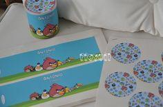 Rotúlo para latinha Pringles - Angry Birds  :: flavoli.net - Papelaria Personalizada :: Contato: (21) 98-836-0113 vendas@flavoli.net Festa Angry Birds, 98, Personalized Stationery, Craft, Tin Cans