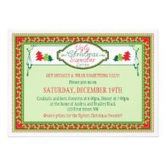 ugly christmas sweater holiday party invitation rcd10db56c2154b94be9e815e78fafb3e 8dnm8 8byvr 270 Party Simplicity Hosting an Ugly Christmas Sweater Party