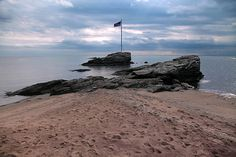 Anchor Rock Flag,Anchor Beach, Long Island Sound,  Milford, CT childhood memories!