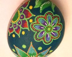 Painted Stones Hand Painted Rocks Stone Art by etherealandearth