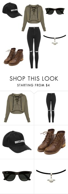 """School Outfit #11"" by junhuiswifey on Polyvore featuring Topshop, Vetements and Ray-Ban"