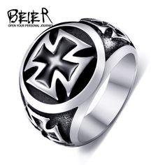 Ein Stück Verkauf Titan Kreuz Ring Für Mann 316L Edelstahl Einzigartige Mode Männlichen Kreuz Ring Für Junge BR8-073
