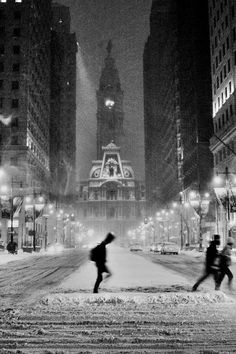 Philly in snow