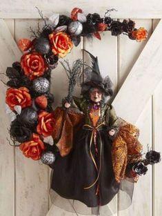 Halloween Door Decorations, Halloween 2014, Halloween Projects, Diy Halloween Decorations, Holidays Halloween, Spooky Halloween, Happy Halloween, Halloween Wreaths, Deco Porte Halloween