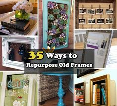 35 Fantastic Ways to Repurpose Old Picture Frames