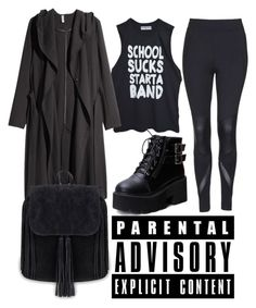 """The one with the coat"" by effing-justice on Polyvore featuring Topshop, High Heels Suicide and H&M"
