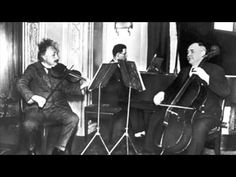 Albert Einstein plays Mozart KV378 Sonata for Violin and Piano in B-flat