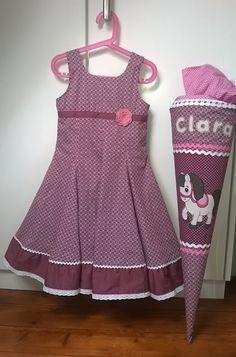 Fadenland: Einschulungskleid: Kombination aus Elodie und Empirchen + Schultüte