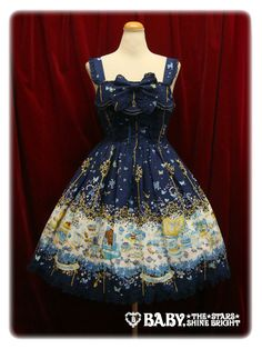 Baby, The Stars Shine Bright's Clockwork Tea Party Lumiere JSK in blue mallow tea.