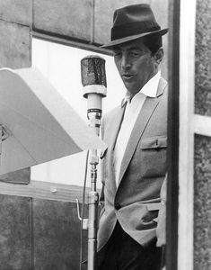 Dean Martin. One of my favorite pictures. The genius at work.