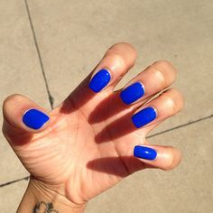 This is the only Blue I think looks good on nails...but dunno what it is!  *sigh*