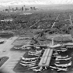 Denver's old Stapleton Airport. Landing flights would sometimes come in right over the Zoo. Colorado Snow, Colorado Real Estate, Living In Colorado, Boulder Colorado, Colorado Rockies, Colorado Springs, Pueblo Colorado, Back In The Day, Historical Photos