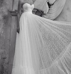Robe de mariée plumetis